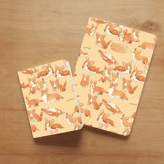 Notebook set : Corgi in Snow (set of 2)