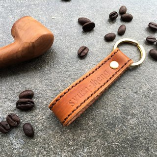 Hin window leather art - handmade leather - key ring suture hand-made vegetable tanned chrome tanned customized custom Wen-ching