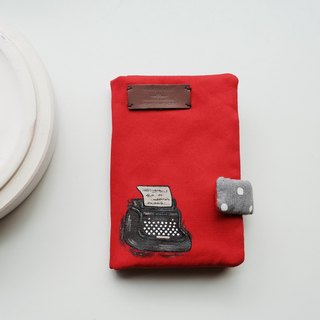 Hand-painted typewriter passport holder