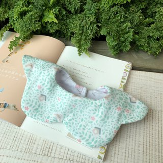 Green grass bird short house Korean double yarn handmade bibs saliva towel