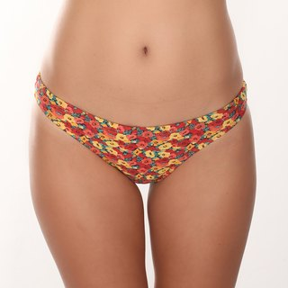 Flowers surfing bikini pants