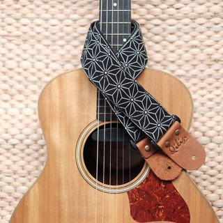 Black Indigo Guitar Strap
