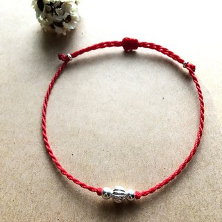 Big Beads / Brazilian Wax Line / Sterling Silver / Braided Bracelet / 925 silver bracelet / Anklet