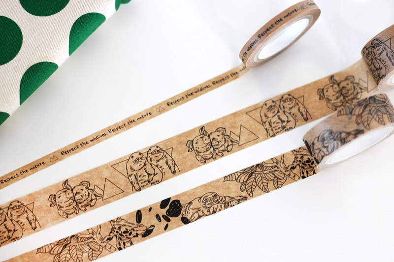 Animal Equality Masking Tape Set (3 rolls: 20mm/16mm/6mm)