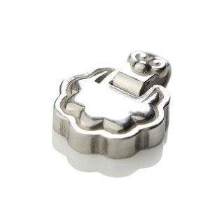 Silver ink NEROSILVER - FH-LLL109P longevity lock [925] longevity rich silver jewelry necklaces Chinese style / manual silver