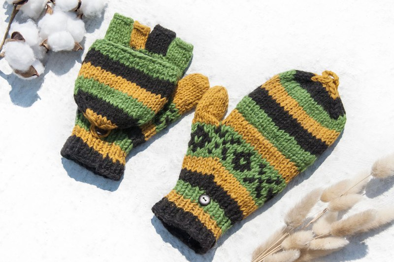 Hand Knit Pure Wool Knitted Gloves