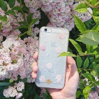 BLUE SKY BLOSSOM - PHONE CASE / CLEAR BLUE