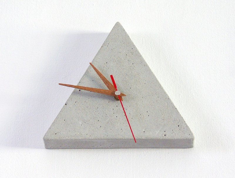 Triangle cement wall clock