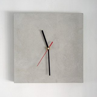 Minimalist cement small square clock