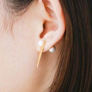 <Cosmic Series> Comet Asymmetric Earrings