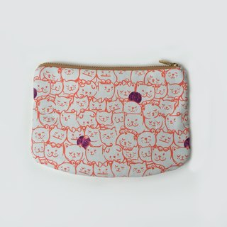 Cute Cat Zipper Pouch, Wallet, Small Purse, Travel Gifts