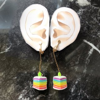 Japanese resin mini clay clip hanging rainbow cake Rainbow