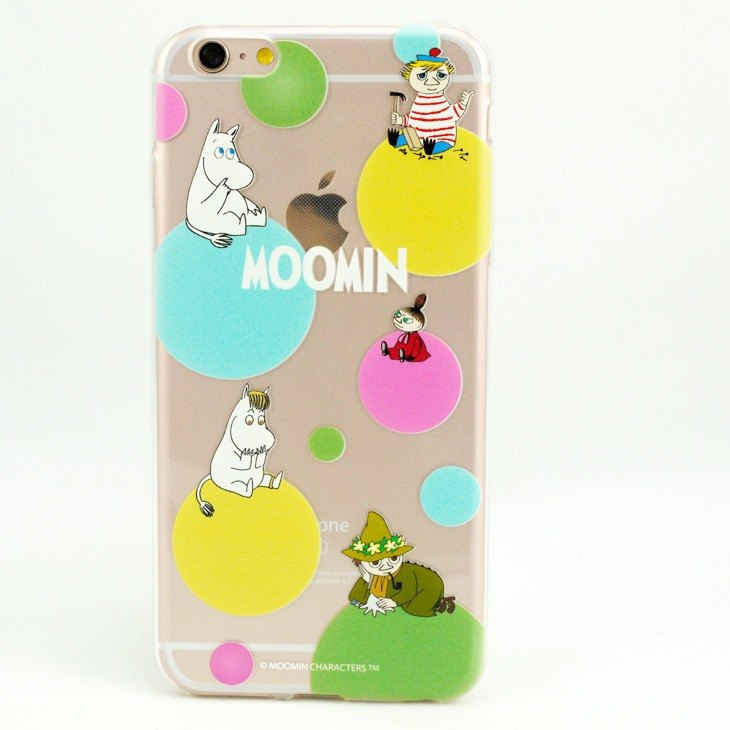 Moomin 噜噜 米 Genuine Authorization-TPU Phone Case [Rainbow Bubble]