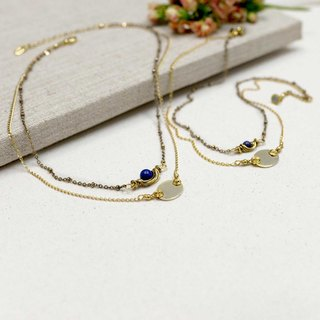[Asteroids] Choker Necklace - Parenting | Sisters (Double Chain Set) | Memorial Marking | Customized |