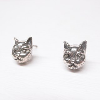 Ershi silver [illustrations] Pui Pui headphones earrings a pair