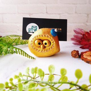 D-23 Golden Eagle Card Holder│Yoshino Hawk x Owl Pottery Decoration Pure Handmade Desk, Desk Stationery Healing Small Things