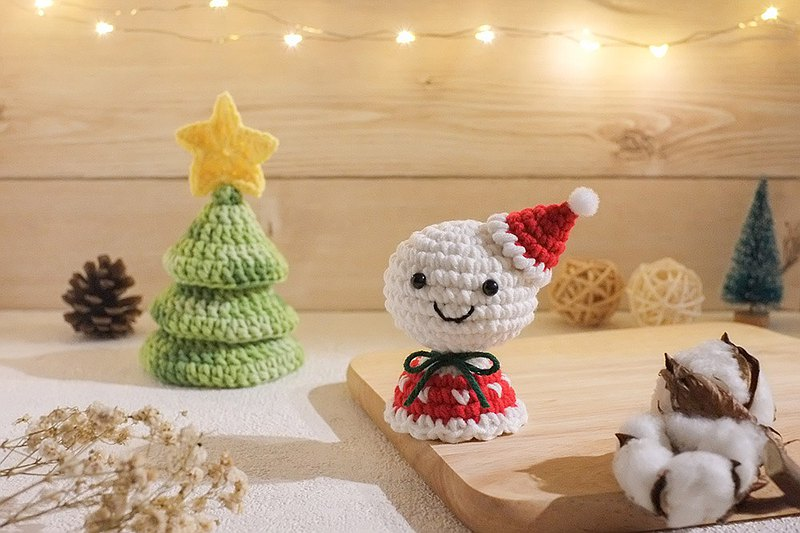Yarn knitted Christmas sunny day doll