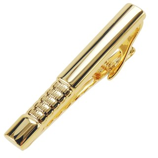 53mm Check Pattern Gold Tie Clips