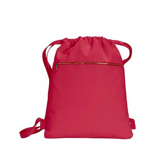 Comfort Colors│ American fashion beam mouth backpack │ canvas bag │ side backpack | red