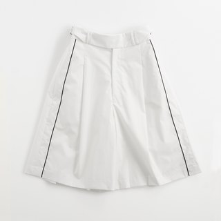Brown Yellow Wide Leg Shorts (Also White Color)