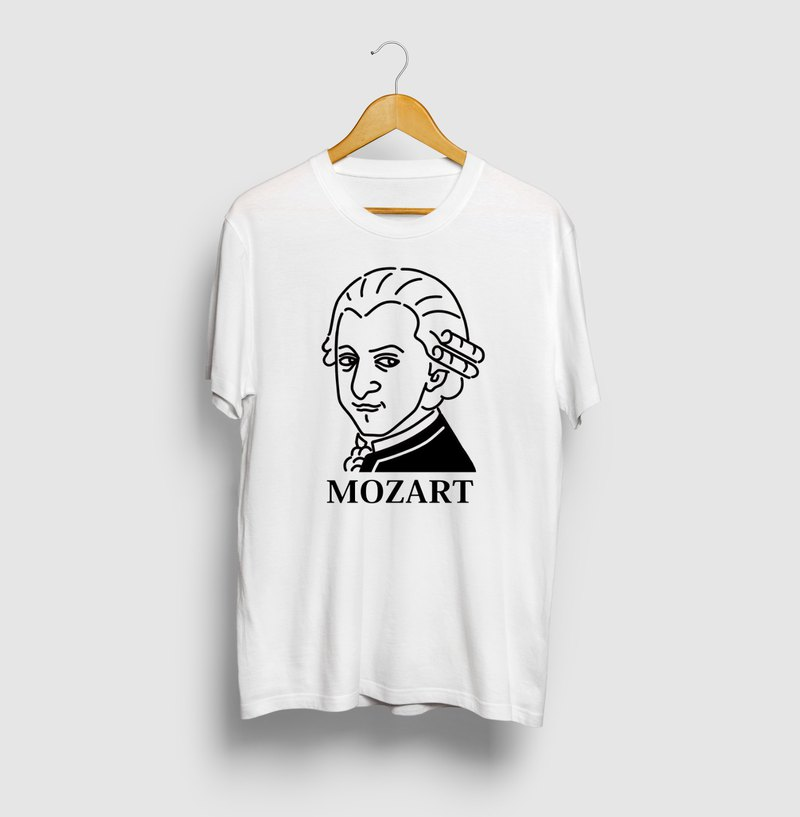 Mozart Mozart Illustration T-shirt Musician Great Art