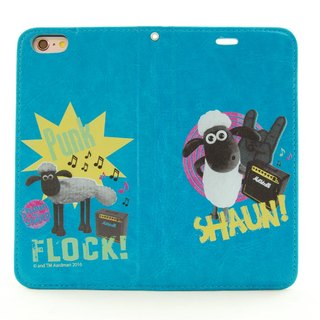 "Smiled sheep genuine authority (Shaun The Sheep) - Magnetic phone holster (blue-green): [Rock] sheep ""iPhone / Samsung / HTC / ASUS / Sony"""