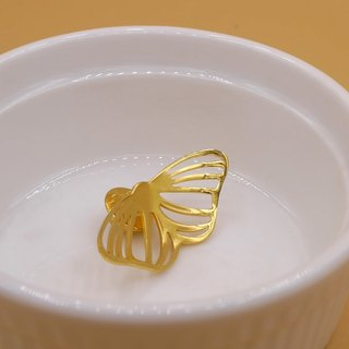 Handmade Butterfly Pins - 18K gold plated on brass