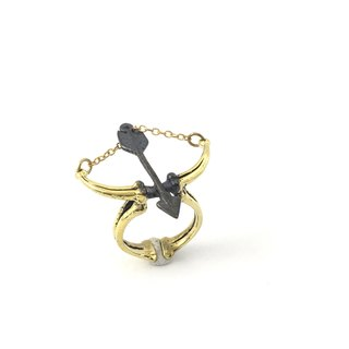 Zodiac Archer bone ring is for Sagittarius in Brass  ,Rocker jewelry ,Skull jewelry,Biker jewelry
