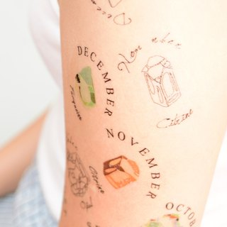 Nov Birthstone temporary tattoo buy 3 get 1 tattoo party wedding decoration gift