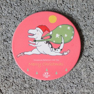 Flew the ballet dragon old man's birthday ceramic coaster