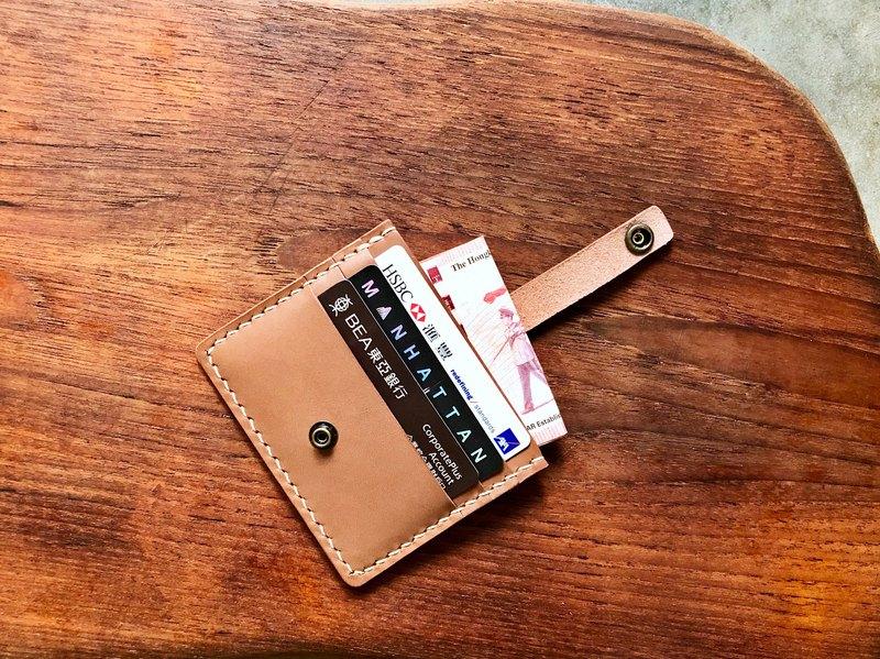 搭帶3+1咭套 皮革材料包 免費刻名 名片夾 植鞣 票夾 皮革DIY
