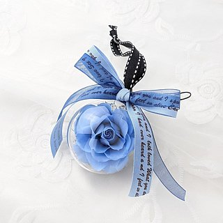 Blue Rose Ball Charm - Blue Ocean Eternal Flower Ball/Not Flower Ball/Dry Flower Ball