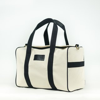 Duffle bag - white/black