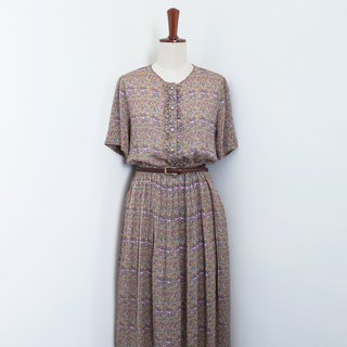 Banana Flyin Vintage :: Long and Sloggy: Vintage Short Sleeve Dress
