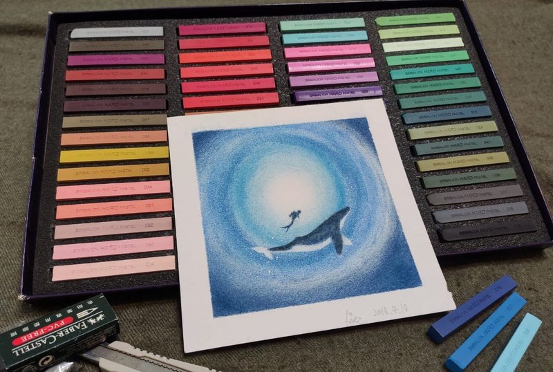 【Workshops】Dancing with Whale and Dolphin-Comfortable Pastel Experience [Two People in Class]