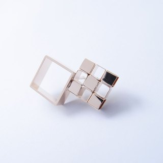 Geometric Landscape 22 Metal Brooch