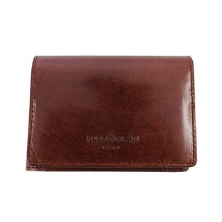 FULLGRAIN │ classic simple two fold wallet card holder deep coffee
