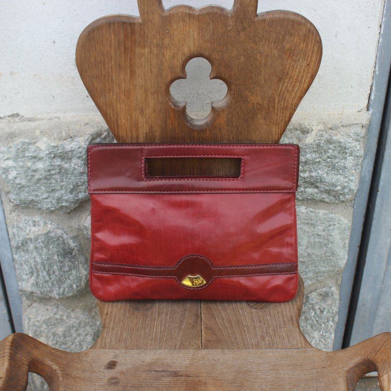 Vintage Italian Red Clutch (Birthday Gift / Christmas Gift / Exchange Gift)