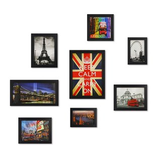 HomePlus Photoframe Blackframe 8PCS City Decor Loft