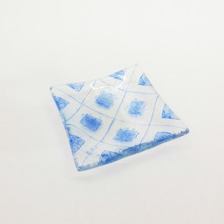 Highlight Also - Tile Glass Plate / Blue
