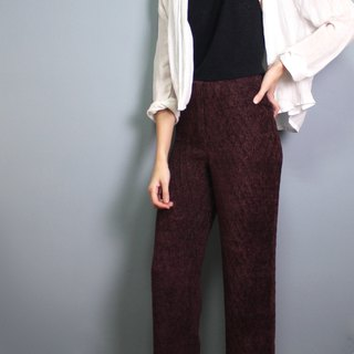 FOAK vintage vintage deep red fish scale high waist trousers