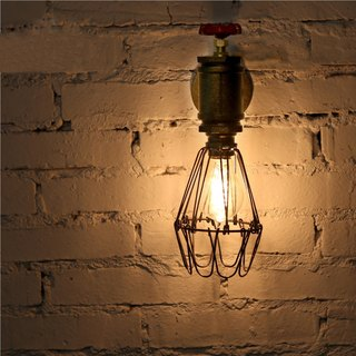 Carpenter loft retro industrial Feng Shui pipe wall lamp wine cafes decorative lights