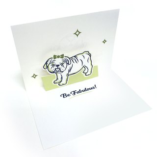 Encouragement Pop Up Card | Dog Card | Pop Up Card