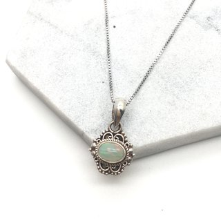 Opal 925 sterling silver necklace Nepal handmade silverware