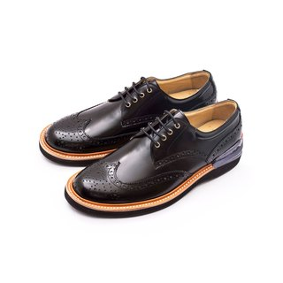 Chainloop SCOT carved Oxford shoes cushion insole sports outsole Made in Taiwan shiny black cowhide leather uppers
