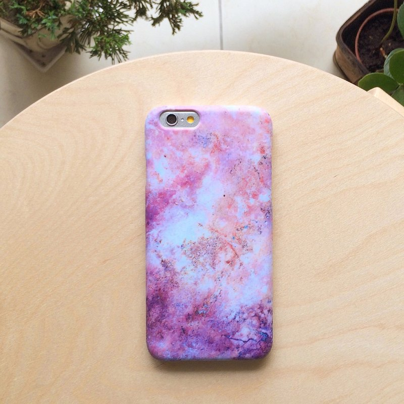 Pink purple Stars marble. Matte Case (iPhone, HTC, Samsung, Sony)