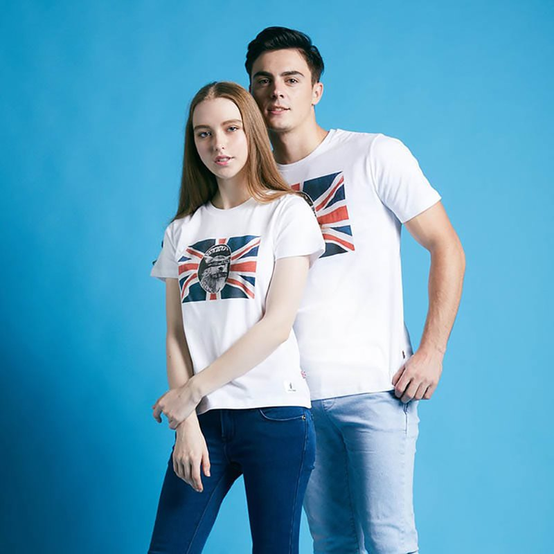 British Fashion Brand -Baker Street- God Save the Alpaca Printed T-shirt