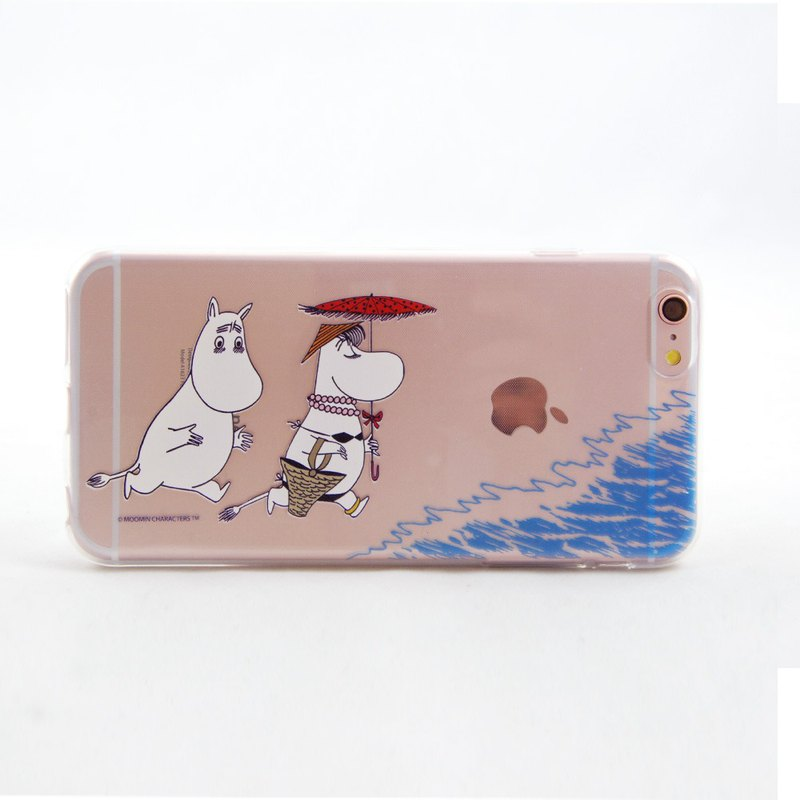 Moomin smurf rice authorized - Summer Beach - TPU phone shell <iPhone/Samsung/HTC/ASUS/Sony/LG/小米> AE81