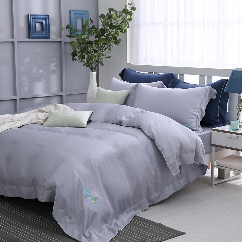(single) early morning shimmer - solid color design models Tencel dual-use bedding three-piece group [60 Tencel]