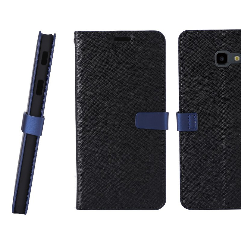 CASE SHOP SAMSUNG Galaxy J4+ side stand-up leather case - black (4716779660500)
